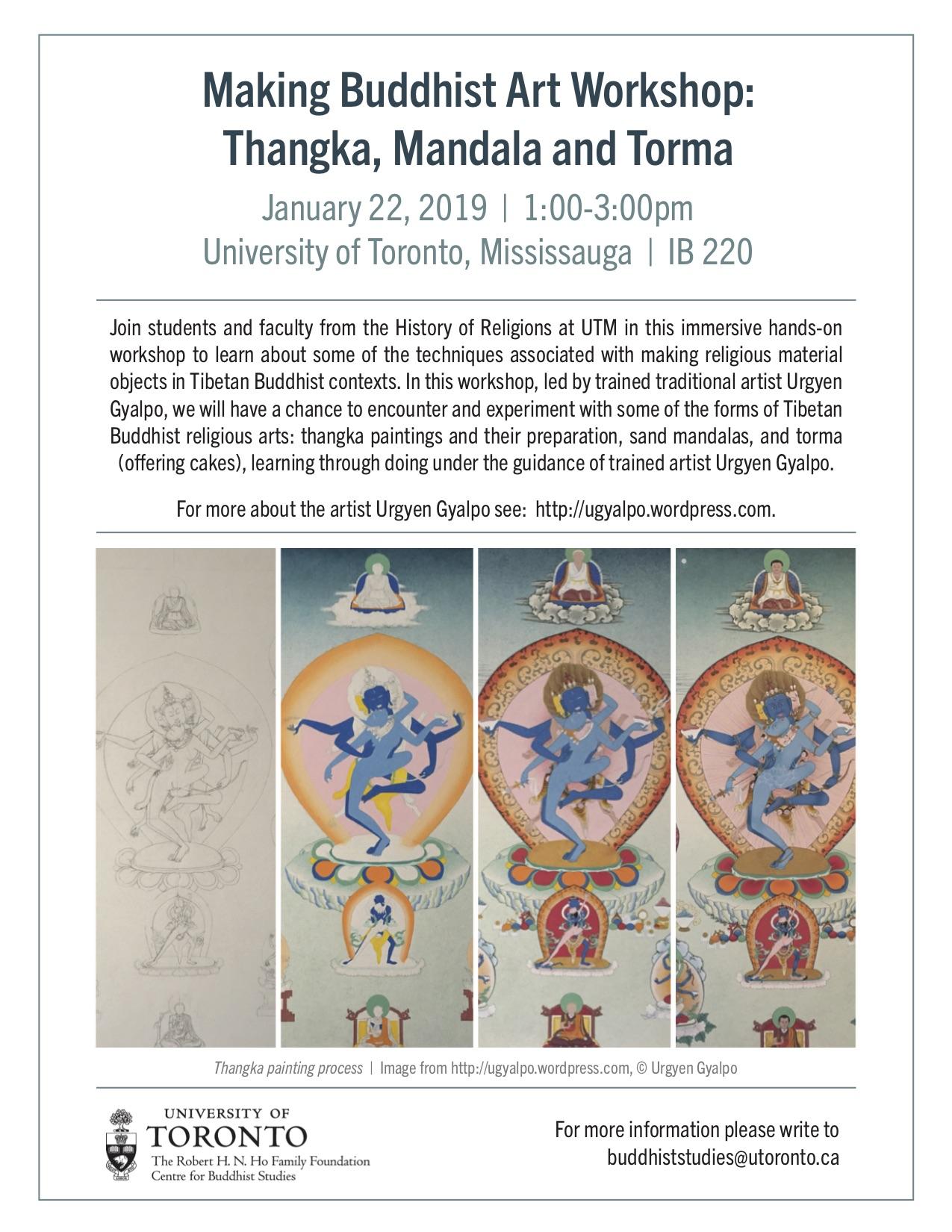3. buddhist art workshop poster